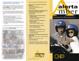 California Alerta Amber Emergencia Responsiva. Departamento de patrulla de caminos de california. ¿Cómo puede ayudar usted? ¿Qué deben hacer los padres y familiares?