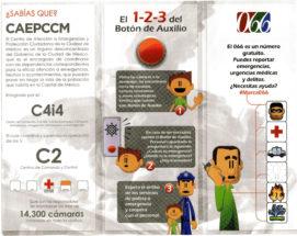El 1-2-3 del botón de auxilio - El 066 es un número gratuito. Puedes reportar emergencias, urgencias médicas y delitos - ¿Necesitas ayuda? #Marca066