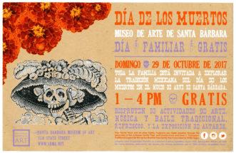 Día de los Muertos Mudeo de arte de santa bárbara día familiar gratis