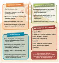 Recomendaciones - ¡La higiene es importante! ¡Cuida el agua! Enfermedades más comunes