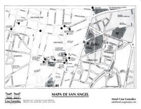 Mapa de San Ángel - Hotel Casa González - Chimalistac