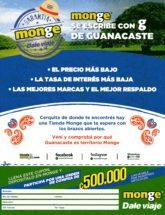 Garantía - monge - Dale viaje - se escribe con g de Guanacaste - El precio más bajo - La tasa de interés más baja - Las mejores marcas y el mejor respaldo