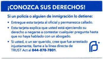 ¡Conozco sus derechos! Si un policía o alguien de inmigración lo detiene:
