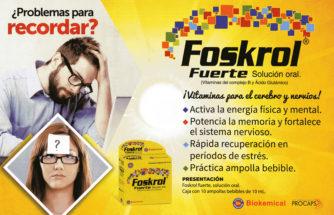 ¿Problemas para recordar? - Foskrol Fuerte Solución oral - ¡Vitaminas para el cerebro y nervios!