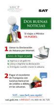 Dos Buenas Noticias: Si viajas a México, ya puedes: Llenar tu declaración de aduana for internet y pagar el excedente de franquicia con tarjetas bancarias